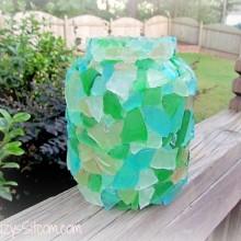 mosaic glass candle lantern