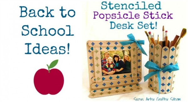 popsicle stick diy desk set teacher gift