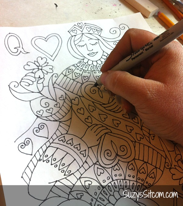 Queen of Hearts pattern decorative painting