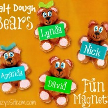 bear salt dough magnets back to school