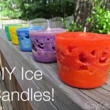 diy miniature ice candles