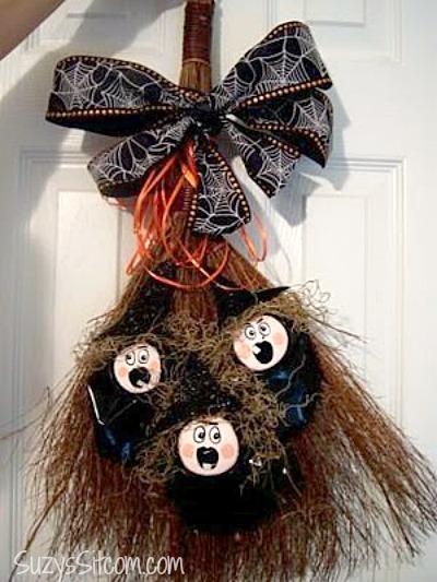 witchy poo door decoration
