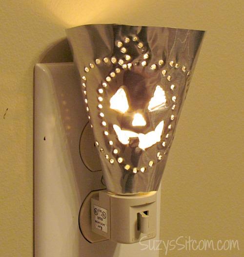 easy halloween metal punch night lights