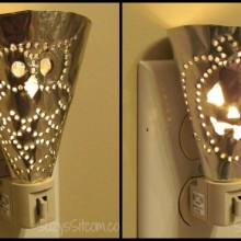 Easy Halloween Punched Metal Lights