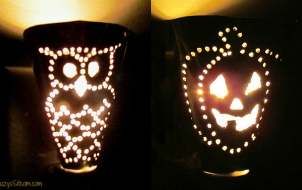 easy halloween metal punch night lights