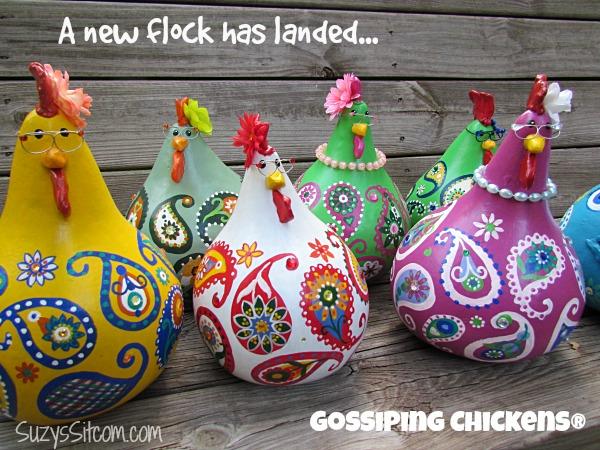 gossiping paisley chickens