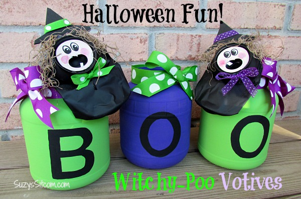 halloween craft witchy poo votives