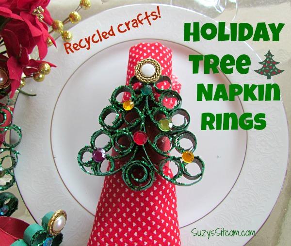 Holiday tree napkin rings easy diy