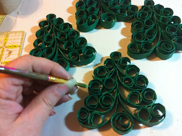 Crafting challenge results holiday tree napkin rings