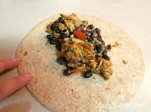 success rice chicken bean burritos