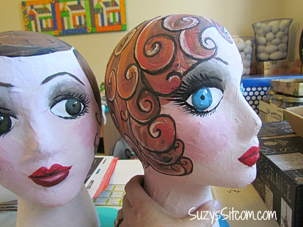 diy flapper mannequin head hat stand