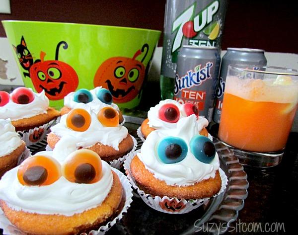 orange soda cupcakes and Halloween fun