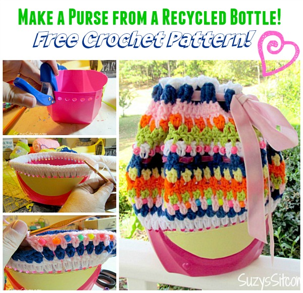 recycled bottle purse crochet pattern