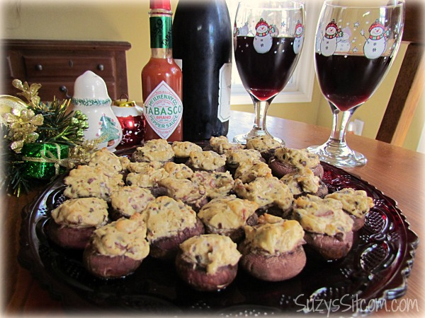 cheesy bacon stuffed mushrooms recipe