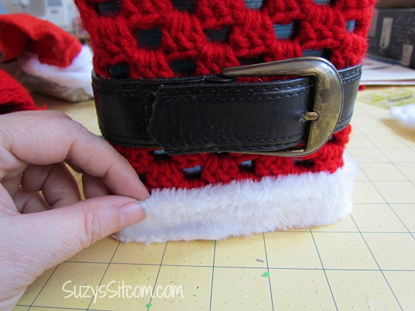 crocheted santa tissue box cover pattern