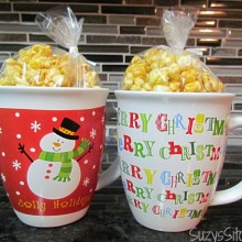 microwave caramel popcorn movie night