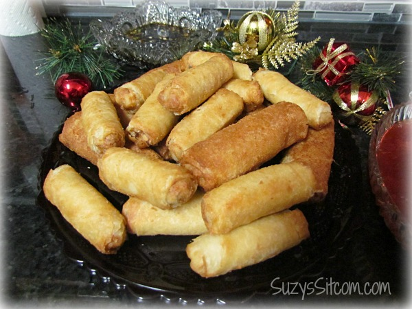 christmas ornament craft party appetizer egg rolls