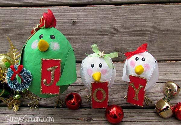 joyful christmas birds decoration