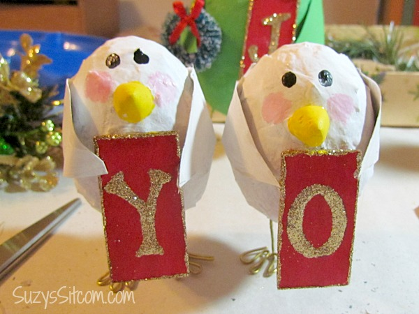 joyful christmas birds decoration