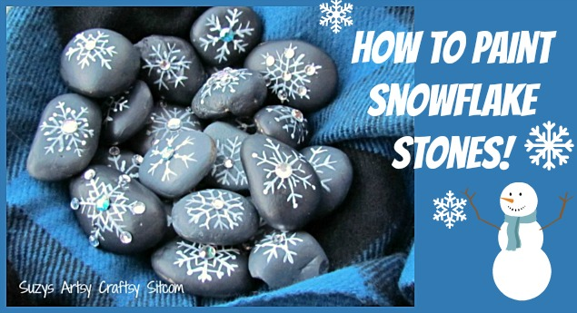 how to paint snowflake stones
