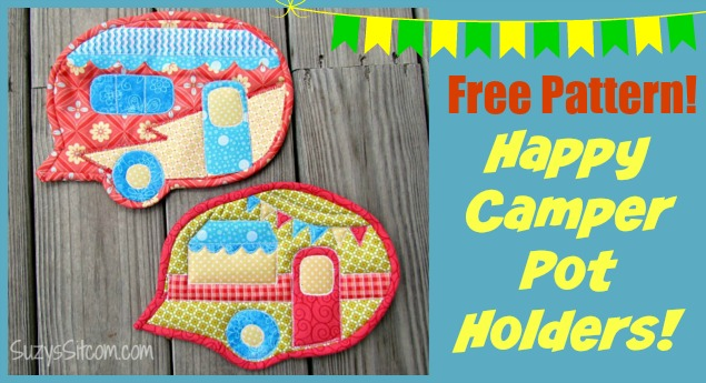 free happy camper pot holder pattern