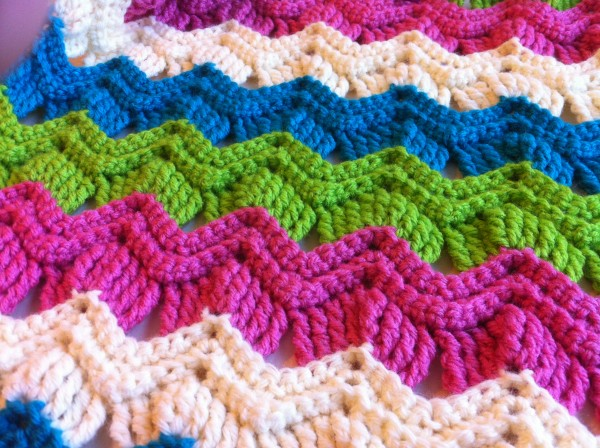 vintage fan ripple crochet stitch