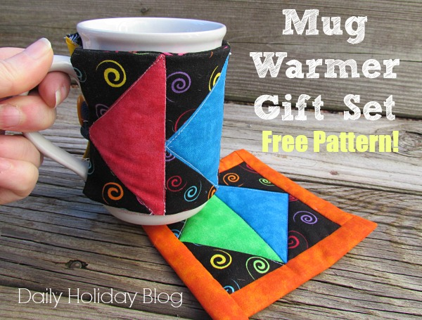 diy mug wrap and coaster sewing pattern