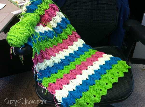 vintage ripple fan scarf pattern