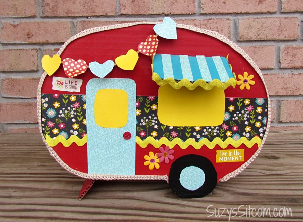 Create a Happy Camper Valentine Card Box – Valentines Card Boxes