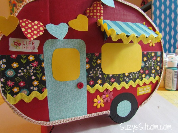 happy camper valentine card box