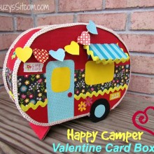 happy camper valentine card box2