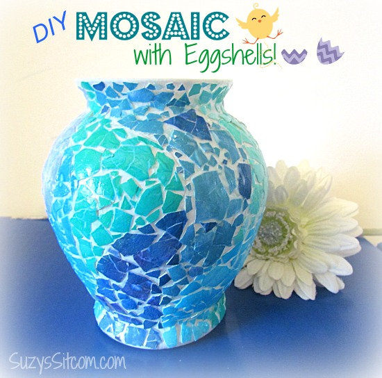 easy DIY mosaic with egg shells
