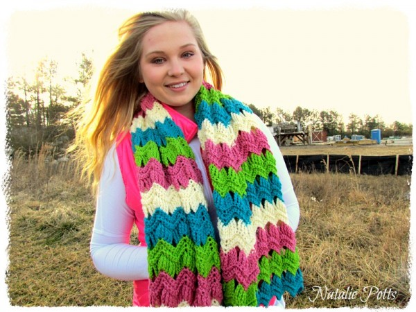 vintage ripple scarf crochet pattern