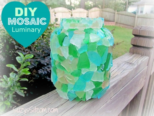 diy mosaic luminary