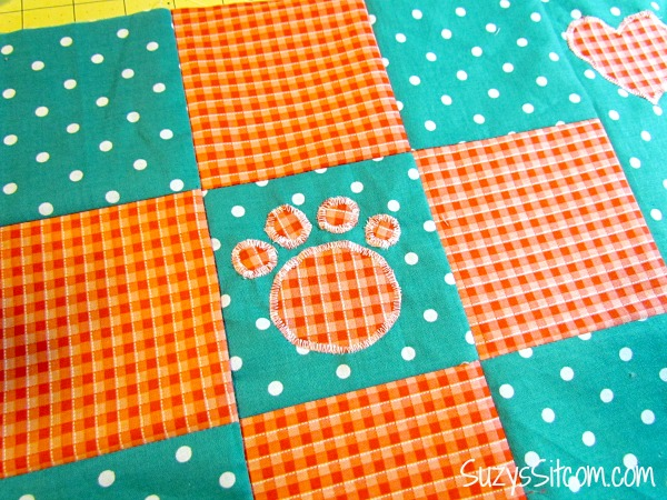 quilted doggie placemat free pattern