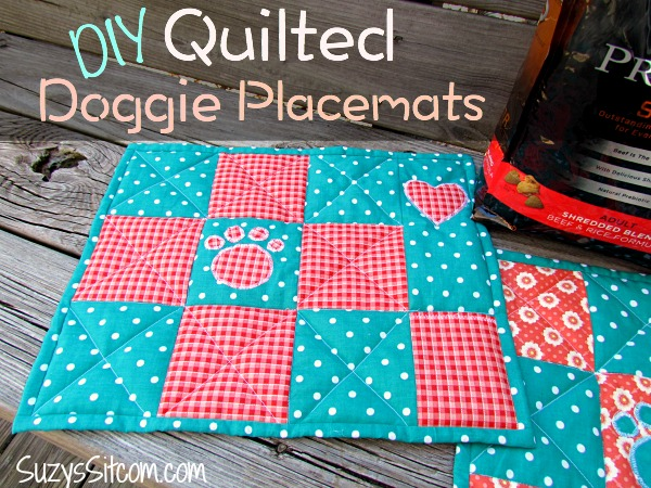Diy Quilted Doggie Placemats And Tasty Nutrition For Your Dog