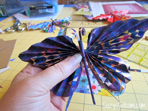 recycled paper butterfly wreath