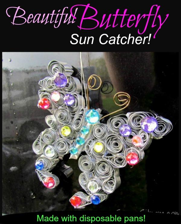 Butterfly sun catcher diy