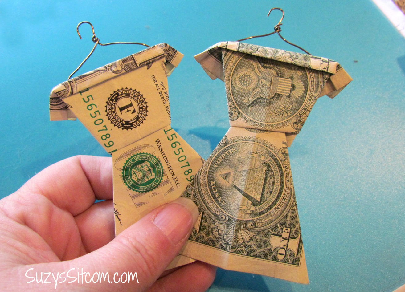 Cool graduation gift idea folded money wardrobe for Cool ideas to make money