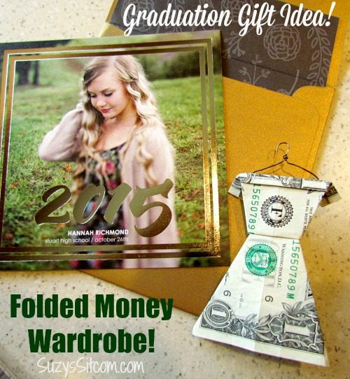 graduation gift idea money dresses on hangers