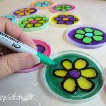 recycled craft plastic lid sun catcher