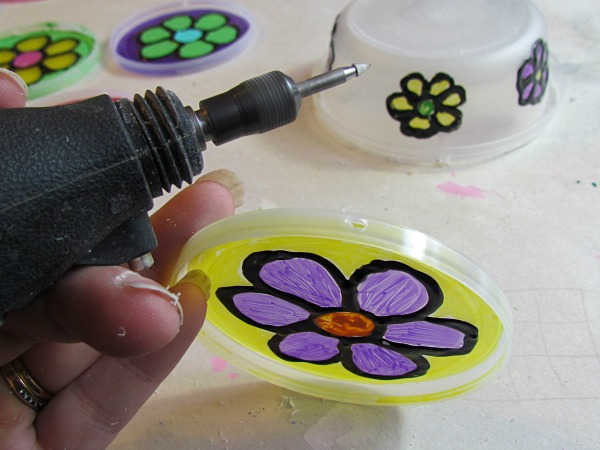 recycled craft plastic lid sun catcher