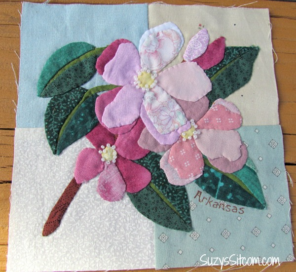 State Flower Applique Quilt and an exciting opportunity to help ... : applique quilt patterns flowers - Adamdwight.com