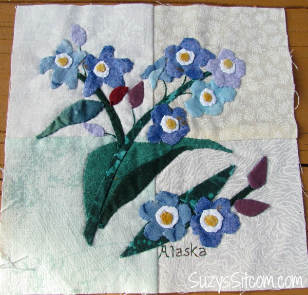 State Flower Applique Quilt And An Exciting Opportunity To Help Others Awesome Applique Patterns Flowers