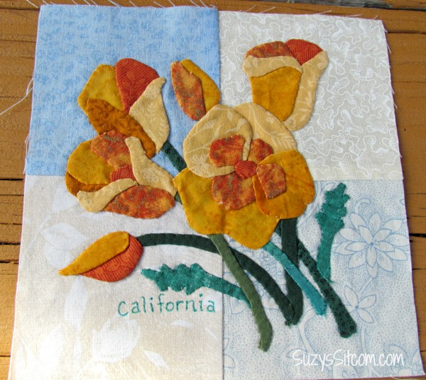 state flowers applique pattern