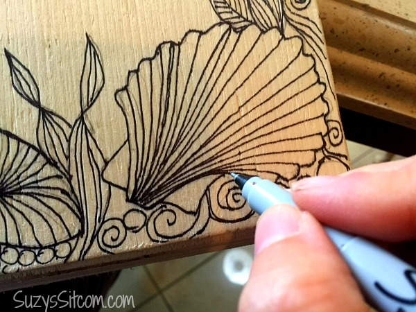 lobster zentangle chalk board free pattern