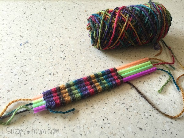straw weaving craft for kids