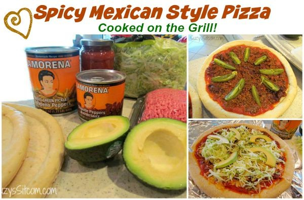 lamorena mexican pizza on the grill