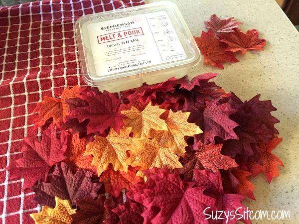 fall leaf single use soaps