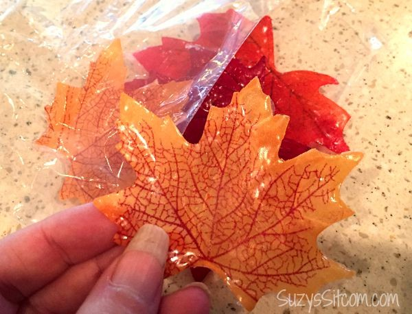 fall leaf single use soaps